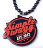 GDN093 EST.2013 Bull Pendant Necklace Acrylic Handmade jewelry Design