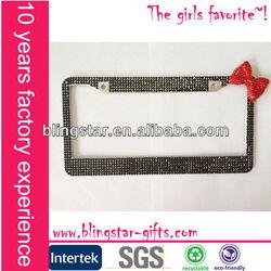 hot selling bling rhinestone license plate frame