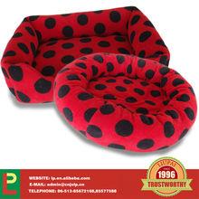 dog bed with polka dots
