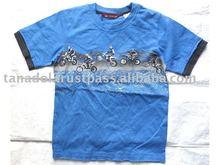 OEM Design Boy T-Shirt, Screen on chest 100% Cotton