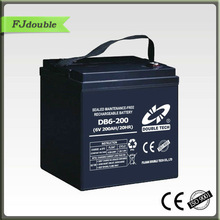 6V200AH Rechargeable Electric golf cart battery