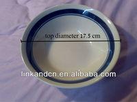 KC-00475/antique ceramic plates/blue circle