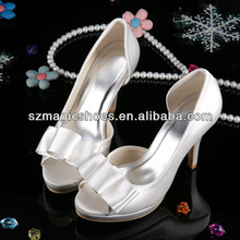 Customized Brand Womans Wedding Shoes White