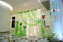 IDA latest fancy design organza backdrop curtains and drapes wedding Chrismas decoration