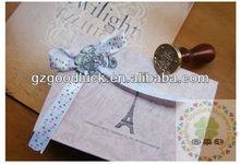 Wooden wooden handle embossing wax seal/Copper&brass Copper&brass handle embossing wax seal