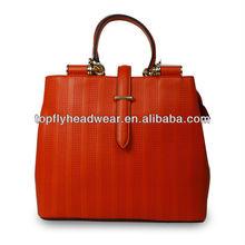 Red fashion genuine leather women bag fahsion handbags custom bag