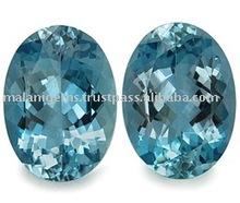 Natural Gemstone Blue Aquamarine Oval Cut Loose Stone