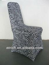 Animal print chair cover, zebra spandex chair cover