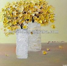 handmade wall flower paintings on canvas