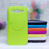 Brushed PC Hard Cover Case with Mirror Stand for Samsung Galaxy S3 i9300