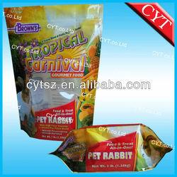 dog treats plastic packaging bagdried treats bag/ dog food packaging with laminated material/dog treats resealable bag