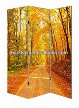 Forest landscape canvas room divider