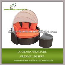 wicker sun lounge/round wicker lounge chair