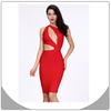 2014 one sholuder bandage dress red color sexy women dress