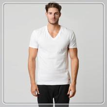 Mens V neck blank t-shirts for sale