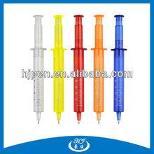 Promotion Needle Syringe Shape Barrel Plastic Injection Ball Pen