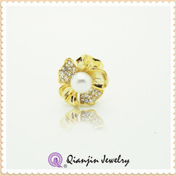Best selling products gold plated ring/pearl ring wholesale fashion jewelry
