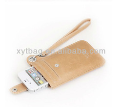 2013 beautiful pu leather cell phone pouch for Samsung