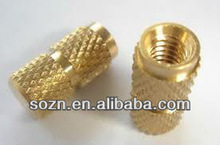 Brass mold-in blind threaded inserts for plastic