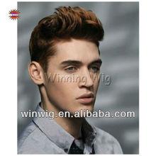100% indian human full hair wigs for men