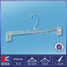 plastic clip no slip pants hanger clear hanging pants rack for garment shop