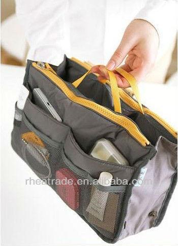 Bag in Bag Double Zipper large capacity Cosmetic Bags
