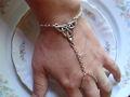 Godbead esclavo pulsera - Triquetra - nudo celta - wicca pulsera de la mano del nudo de la trinidad anillo del dedo anular de la pulsera