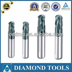 Tungsten solid carbide ball nose end mills