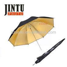 "33"" 83cm Studio Flash Gold / Black Reflector Umbrella for Camera Speedlite"