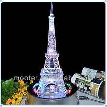 Lighting Crystal Eiffel Wedding Towel Gifts For Wedding Souvenir
