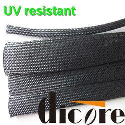 Flame retandard PET expandable braided sleeving/expandable braided polyester sleeving/RAYFLEX/GRP110/flexo pet
