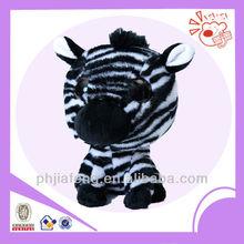 Big eyes head zebra zoo animal ,plush zebra ,house toys