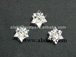 20-point Merkaba-Icosahedron Star in Clear Quartz