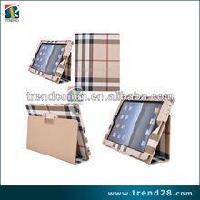 luxury Lattice Frame leather case for ipad 2