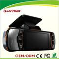 2.7'' tft de alta definición 1080p de seguridad del coche de la cámara con visión nocturna coche negro de la caja
