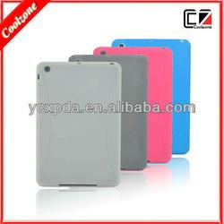 Candy color transparent TPU cases for mini ipad