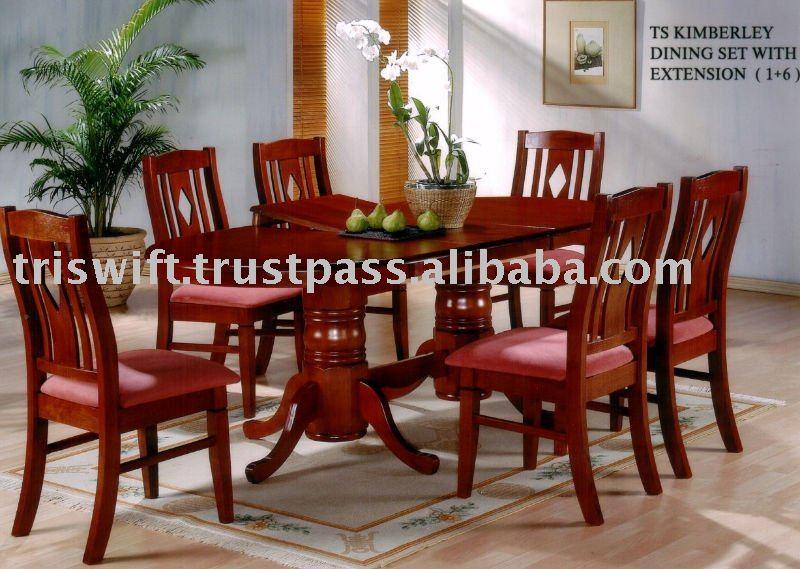 Madera mesa de comedor conjunto sillas comedor for Precios de sillas de madera para comedor