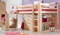 ( wjz-b23) madeira de pinho sólido para crianças cama de beliche