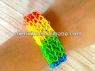 Rainbow DIY make-up rubber band slicione gel bracelet loon
