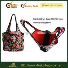 neoprene shopping bag for laptop sundries and hand bag