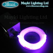 Multi colorful glass fiber optic lighting