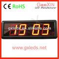 Aliexpress 2.3 pulgadas Ganxin LED fabricante con portable reloj digital de la temperatura