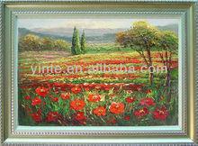 Rural flower painting beautiful framed decoration oil painting ytklmt28