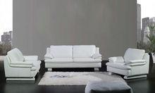 Modern sofa Euro design t with comfortable high back Classic white Top grain leather 1 2 3 Sofa Set modern sofas 2012 A352-3