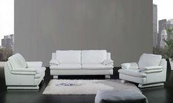 2013 Modern sofa Euro design high back Classic white Top grain leather 1 2 3 Sofa Set nice modern sofa for sale A352-11
