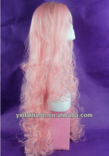 Most popular cheap Wholesale halloween pink wigs /party wigs/carnival wigs