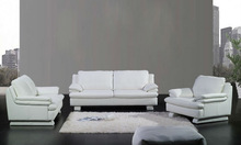 French style Modern sofa latest design high back Classic white Top grain leather 1 2 3 Sofa famous furniture design A352-19