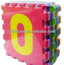 Colorato di puzzle ad incastro anti- slittamento eva schiuma di materiale morbido eva puzzle tappeto