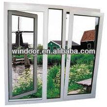 Double glazing economical aluminium tilt and turn window,open inward tilt glass window with Powder Coated