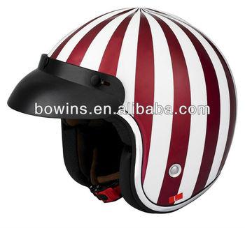 Watermelon design delicate visor half helmet